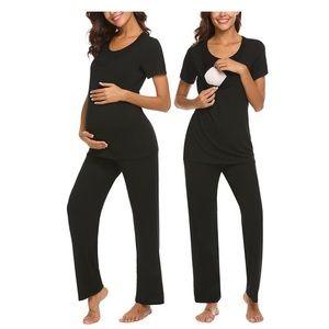 MAXMODA Maternity Nursing Pajamas Set